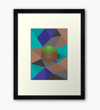minecraft polygon Framed Print