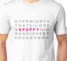 "Buffy & Angel ""Spuffy"" Crossword Puzzle Unisex T-Shirt"