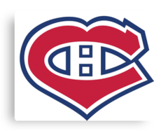 Habs in my Heart Canvas Print
