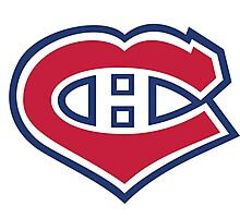 Habs in my Heart Photographic Print