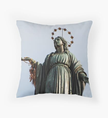 Statue of the Virgin Mary Throw Pillow