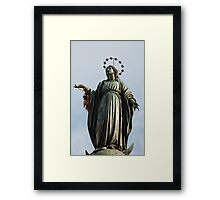 Statue of the Virgin Mary Framed Print