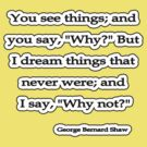 Why Not? George Bernard Shaw by Tammy Soulliere