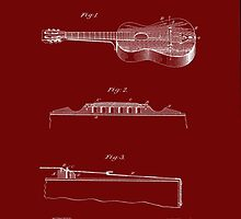 1893 Stratton Guitar Patent Art by Barry  Jones