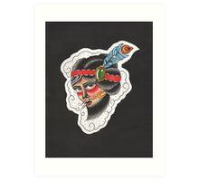 The Bearded Lady Art Print