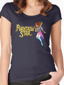 Phantasy Star (Genesis) Title Screen Women's Fitted Scoop T-Shirt