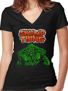 Swamp Thing (Nes) Title Screen Women's Fitted V-Neck T-Shirt