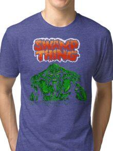 Swamp Thing (Nes) Title Screen Tri-blend T-Shirt