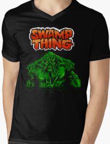 Swamp Thing (Nes) Title Screen Mens V-Neck T-Shirt