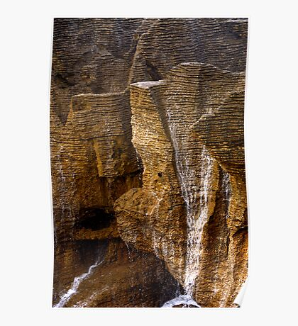 Pancake Rocks, New Zealand Poster
