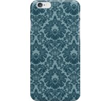 French Provincial Fleur De Lis in Blue iPhone Case/Skin