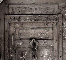 Inscribed door by hettie