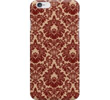 French Provincial Fleur De Lis Pattern in Wine iPhone Case/Skin
