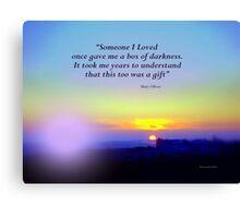 Sonnenaufgang.  Ein Geschenk Canvas Print