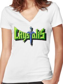 Crystalis (Nes) Title Screen Women's Fitted V-Neck T-Shirt