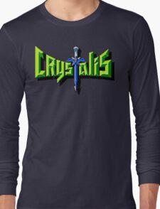 Crystalis (Nes) Title Screen Long Sleeve T-Shirt