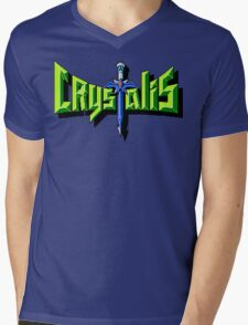 Crystalis (Nes) Title Screen Mens V-Neck T-Shirt