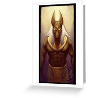 Anubis, God of Embalming Greeting Card