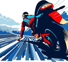 Motor racer speed demon by SFDesignstudio
