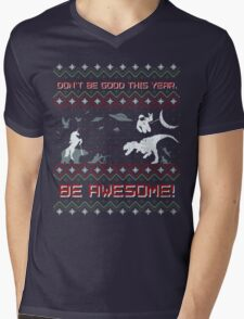 EPIC CHRISTMAS SWEATER YEAH!!! Mens V-Neck T-Shirt