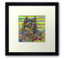 Psychedelic Wolf Framed Print