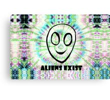 aliens exist. Canvas Print