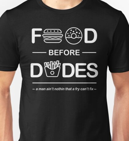 Official Chris Crocker - Food Before Dudes Shirt Unisex T-Shirt