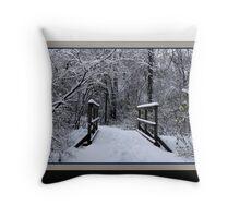 Ice Bridge (card) Throw Pillow