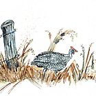 Guineas are winged wonders! by Maree  Clarkson