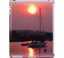 Sun Setting over Topsham Estuary iPad Case/Skin