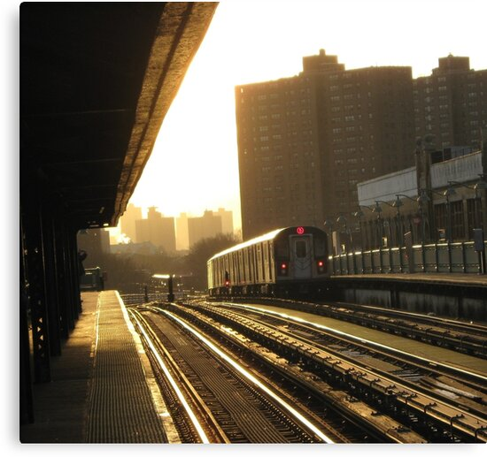 Bronx Subway, New York City  by Alberto  DeJesus