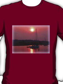 Sun Setting over Topsham Estuary T-Shirt