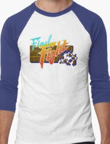 Final Fight (SNES) Title Screen Men's Baseball ¾ T-Shirt