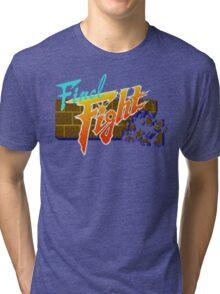 Final Fight (SNES) Title Screen Tri-blend T-Shirt