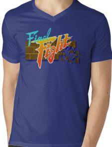 Final Fight (SNES) Title Screen Mens V-Neck T-Shirt
