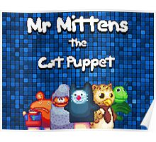Mr Mittens Pixel Logo Poster