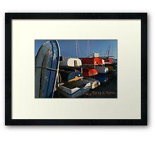Boat ends Framed Print