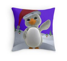 Holiday Penguin Throw Pillow