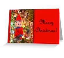 Vintage Elf Card Greeting Card