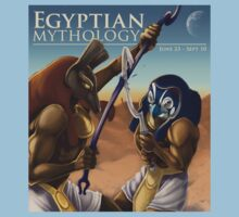 Egyptian Mythology (Battle of Horus and Set) by Katrine Leyva