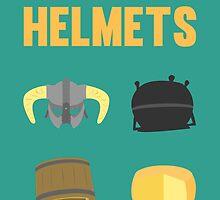 Skyrim ultimate helmets by paulaxd