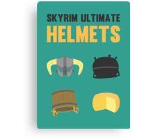 Skyrim ultimate helmets Canvas Print