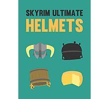 Skyrim ultimate helmets Photographic Print