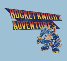 Rocket knight Adventures (Snes) Title Screen One Piece - Short Sleeve