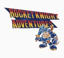 Rocket knight Adventures (Snes) Title Screen Baby Tee
