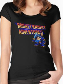 Rocket knight Adventures (Snes) Title Screen Women's Fitted Scoop T-Shirt