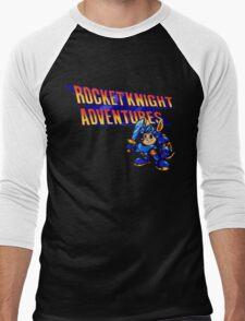 Rocket knight Adventures (Snes) Title Screen Men's Baseball ¾ T-Shirt