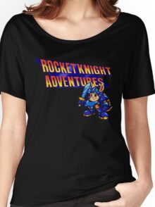 Rocket knight Adventures (Snes) Title Screen Women's Relaxed Fit T-Shirt