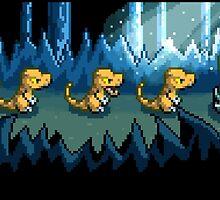 Pixel Jurassic World by Logan Niblock