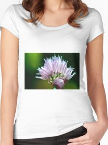 Chives Flower Women's Fitted Scoop T-Shirt